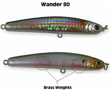 fishing lures Lucky Craft Wander 80